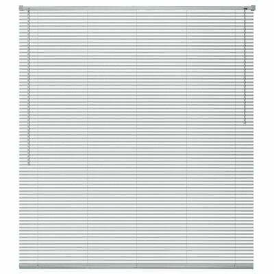 vidaXL Persiana de Aluminio PVC 100x130cm Plateada Veneciana Cortinas Accesorios