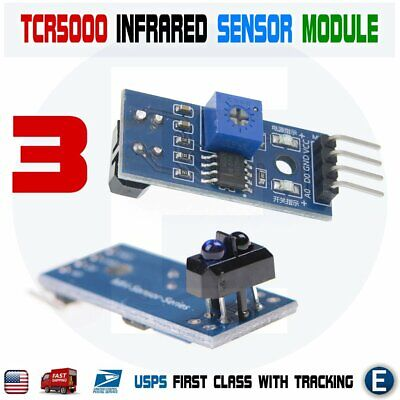 3pcs Tracing Sensor Module Tcrt5000 Infrared Reflection Photoelectric Switch