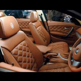 MINICAB LEATHER CAR SEAT COVERS FOR TOYOTA PRIUS AURIS VW SHARAN TOURAN PASSAT MERCEDES E CLASS E200