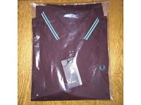 Brand new men's short sleeve Fred Perry polo shirt