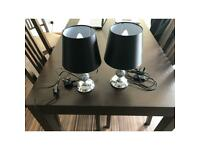 New hardly used Table lamps