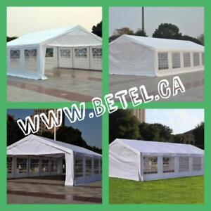 JULY SALE @ WWW.BETEL.CA || LARGE STEEL WEDDING PARTY EVENT TENTS || FREE DELIVERY!! $649& UP