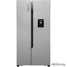 Fridgemaster MS91515DFF Silver American Fridge Freezer Energy Rating A+ 514 L Capacity