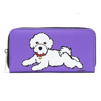 Bichon Frise Zipper Wallet by MARC TETRO - with presentation box -...