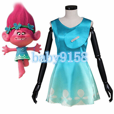 new Trolls Princess Poppy Girls New Fancy Dress Costume for girls and adult - Troll Costume For Adults