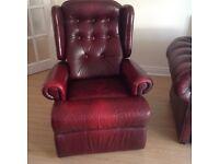 Leather reclinin chair