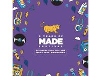 DISCOUNTED MADE FESTIVAL TICKETS