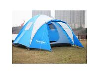 Finether 3-4 Man Beach Camping Tent Festival Fishing Sun Shelter Waterproof Blue