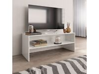TV Cabinet High Gloss White 100x40x40 cm Chipboard-800051