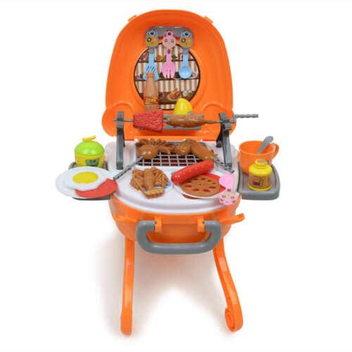 Kinder Barbecue Grill Pretend Play Spielzeug Küche Essen Kochen Set Lichter