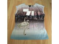 Ted baker sparkling swan top size 1