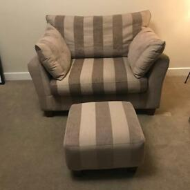 NEXT Love Seat & Foot stool