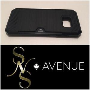**SALE** S7 Edge Armour Hybrid Card insert kickstand phone case