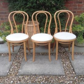 SET OF 3 BENTWOOD MODERN DINING CHAIR IN BEECH WOOD