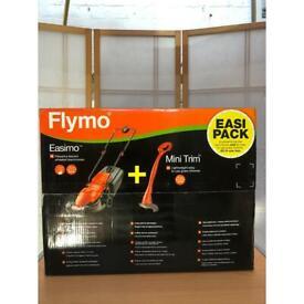 Brand New Flymo Electric Lawnmower + Mini Trim Grass Trimmer