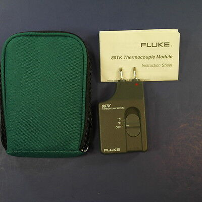 New Fluke 80tk Thermocouple Module Green Case