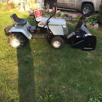 Craftsman lawn tractor with the snowblower and mowing deck