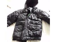 boys black puffa jacket black for school in the winter