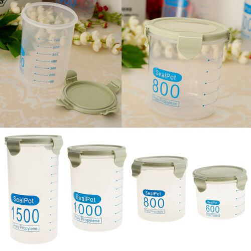 4Pcs Cereal Containers Airtight Dry Food Keepers For Flour S