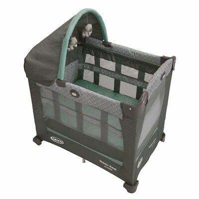 Graco Baby Travel Lite Portable Folding Crib w/ Bassinet - Manor | 1893800