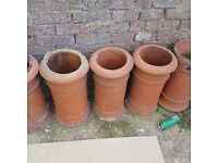 Chimney pots £10 each or all 5 for £40