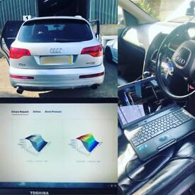 Mobile vehicle remapping