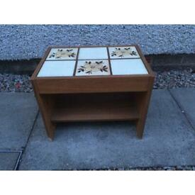 Tile-topped small table