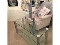Glass TV stand,3 shelves