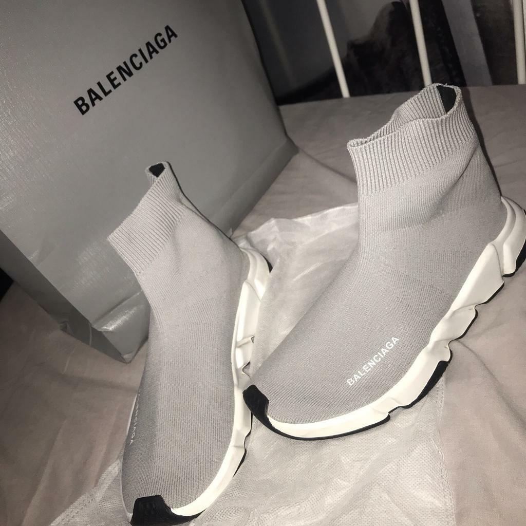 Balenciaga Sock Runners (Grey) UK9 | in