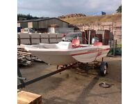 16ft Cathedral HULL Boat with 50 horse Yamaha outboard