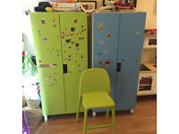 """Two Ikea wardrobes & """"high""""-up chair - name your price"""