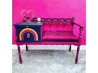 Gorgeous one of a kind telephone table seat