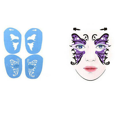 Reusable Body Art/Eye Face Paint Stencils for Halloween Makeup Butterfly