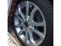 17 inch wolfrace rims and brand new tyres