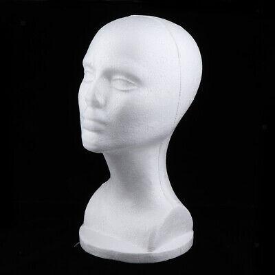 12 Styrofoam Foam Mannequin Head Wig Display Stand Hat Holder - White