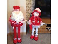 Santa and snow man