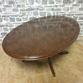 Mahogany Oval Coffee Table