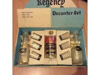 Regency Decanter Set Boxed In good condition for age