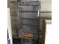 Commercial Drinks Fridge and Shop Shelves For Sale