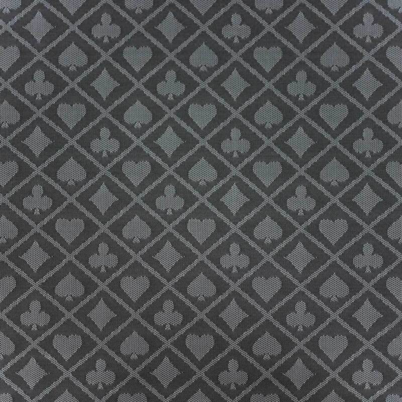 108 x 60 INCH FULL SIZE POKER TABLE SUITED SPEED WATERPROOF CLOTH GREY