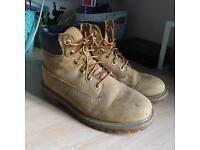Timberland Premium 6 Boots Wheat Nubuck. Size 4.