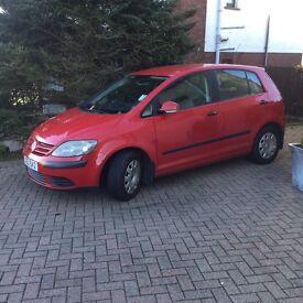 Volkswagen Golf Plus, 1.9TDi, Diesel, low mileage.