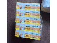 10 boxes of go cat and 1 large 10 kilo bag of cat litter - RRP £34