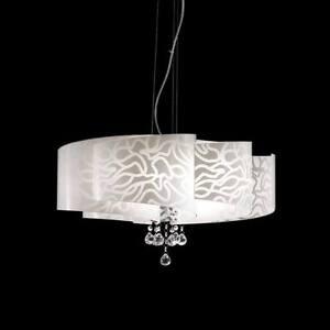 Dettagli su Lampada lampadario sospensione design moderno vetro ...
