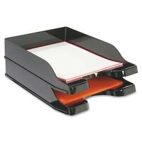 Docutray Multi-Directional Stacking Tray - Black (Set of 2 Trays