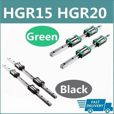 HGR15 HGR20 2X Linear Rail Guide+4X HGH15CA HGH20CA Block HGH15 HGH20 200-1700mm