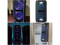 SONY GTK-XB7B Wireless Megasound party lighted speaker Hi-Fi System Bluetooth NFC Black - new boxed