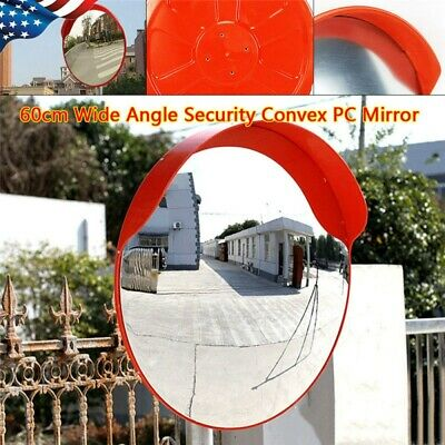 60cm Pc Traffic Convex Mirror Safety Wide Angle Driveway Road Outdoor Security