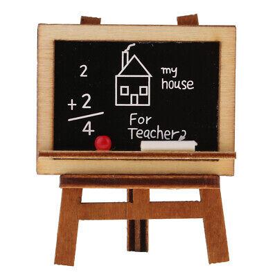 Tafel mit Kreide  Radiergummi Modell für 1/12 Puppenhaus Deko DIY Dollhouse