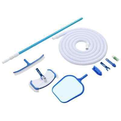 vidaXL 9 Piece Pool Maintenance Kit Spa Cleaning Tool Vacuum Skimmer Bush